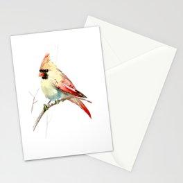 Northern Cardinal (female Cardinal bird) Stationery Cards