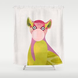 Lemur and a chewing gum club Shower Curtain
