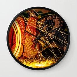 Haunted Spark Wall Clock