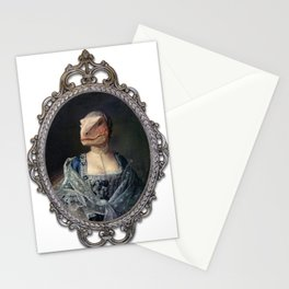 Framed Dame Deinonychus Stationery Cards