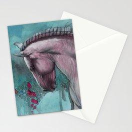 Running through aqua blue Stationery Cards