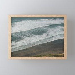 Waves on the Beach Framed Mini Art Print