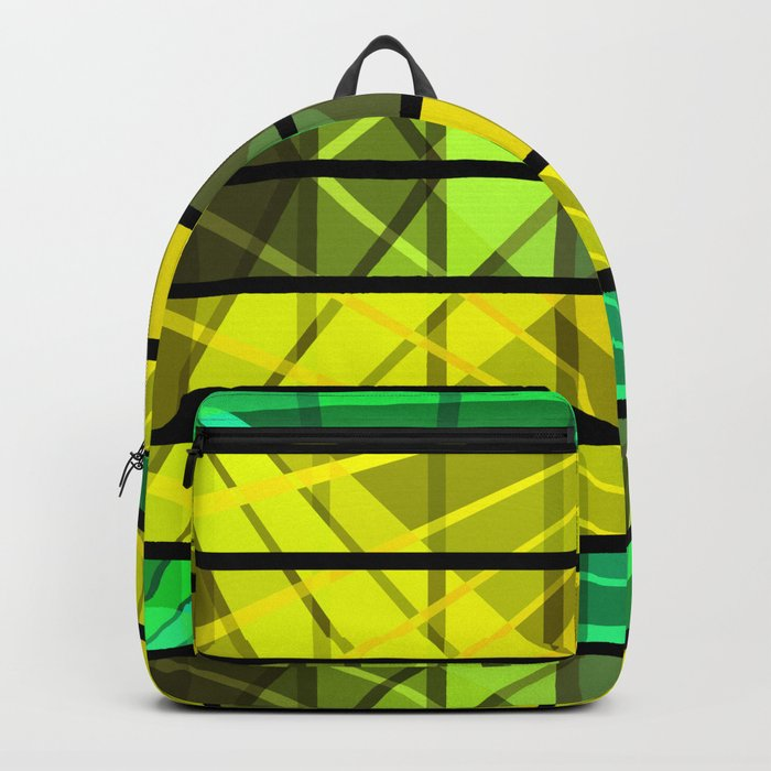 An abstract geometric pattern . Backpack