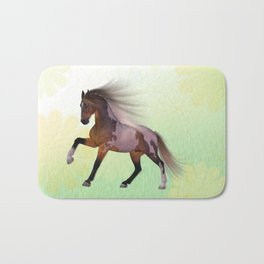 A horse, a friend Bath Mat