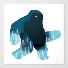 Yeti at Night Canvas Print