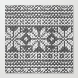 Winter knitted pattern 1 Canvas Print