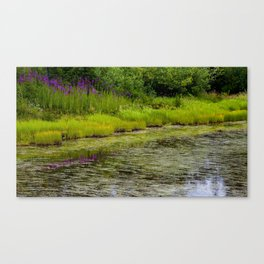 Mountainside Serenity  Canvas Print