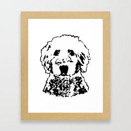Goldendoodle Dog Framed Art Print