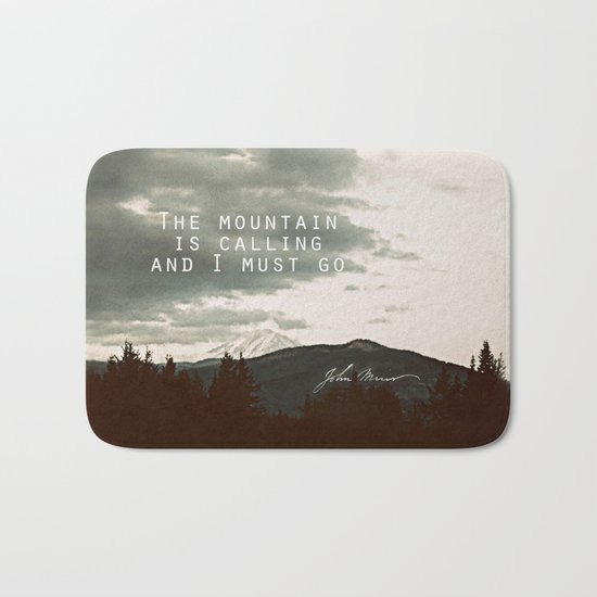 The Mountain is Calling Bath Mat