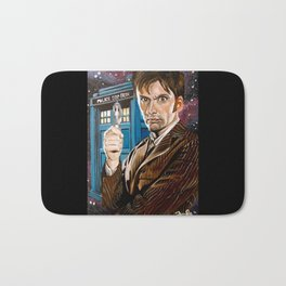The Tenth Doctor and His TARDIS Bath Mat