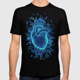 Gamer Heart BLUE TECH / 3D render of mechanical heart T-shirt