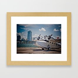Downtown Miami Seaplane Framed Art Print