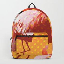 Watercolor Flamingo Pattern 2 Backpack