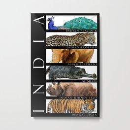 Animals of India Metal Print