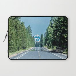 Road to the Summit // Grainy Photograph of Oregon Trip to the Snow Capped Mountain in View Laptop Sleeve