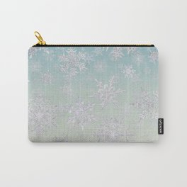 Frosty Day - Snowflakes Carry-All Pouch