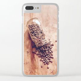 Spilled Coffee Clear iPhone Case