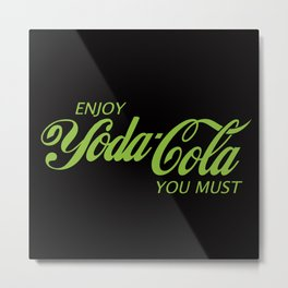 Yoda Cola (Green) Metal Print