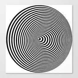 Vortex, optical illusion black and white Canvas Print