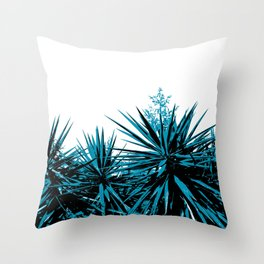 Yucca Trees Throw Pillow