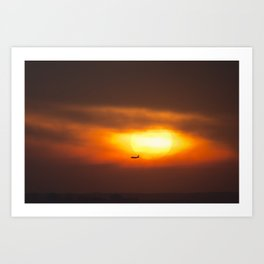 Into the Sunset. Art Print
