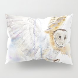 """Watercolor Painting of Picture """"White Owl"""" Pillow Sham"""