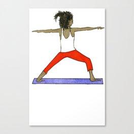 Yoga Folks - Warrior.   Canvas Print