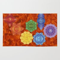 chakra Area & Throw Rugs featuring Sacral Chakra  by Gypsy Owl Productions