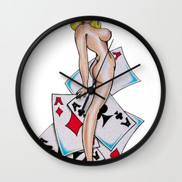 5 Aces Wall Clock