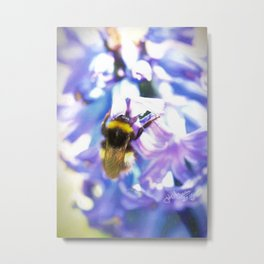 Yellow, Black, And Blue,Bumblebee Metal Print