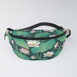 Lotus Pattern Fanny Pack