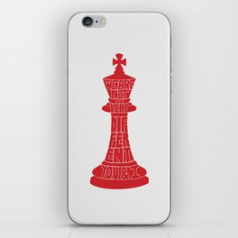 We Are Not So Very Different -Tinker Tailor Soldier Spy iPhone Skin