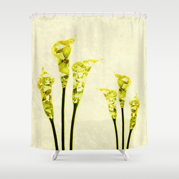 Calla Lily In Gem Mode Shower Curtain