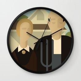 Painted Girls #2 Wall Clock