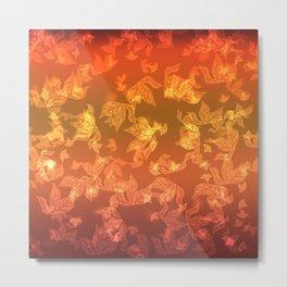 Autumn leaf fall. The bokeh effect. Metal Print