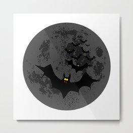 Vampire Bats Against The Dark Moon Metal Print