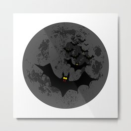 Vampire Bats Against The Dark Moon Metal Print