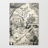 safari Canvas Prints featuring Safari by David Jablow