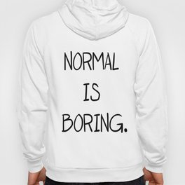 NORMAL IS BORING CROP TANK TOP FUNNY HIPSTER WOMENS RETRO cute vtg punk HIPSTER Hoody