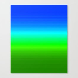 Blue Sky Green Grass Deconstructed (blue to green ombre gradient) Canvas Print