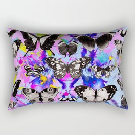 Tie Dye Butterflies Rectangular Pillow