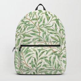 Green Vegan Leaf Print Backpack