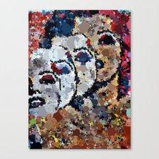 She's A Beautiful Mess Canvas Print