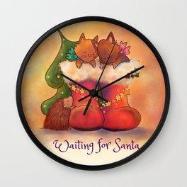 Waiting for Santa Wall Clock