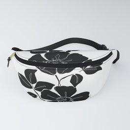 Botanical floral illustration - Rose Silhouette Fanny Pack
