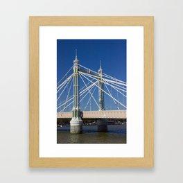 Albert Bridge on the Thames in London (2) Framed Art Print