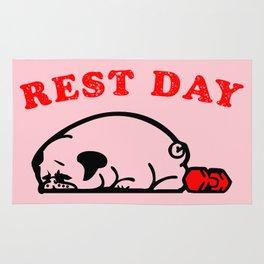 Rest Day Pug Rug
