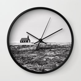 Black and White Photograph - Travel photography Wall Clock
