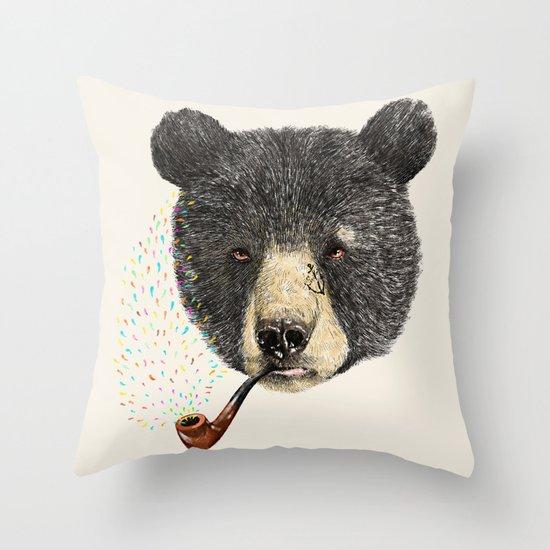 BLACK BEAR SAILOR Throw Pillow