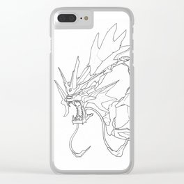 Mechanical Gyarados Clear iPhone Case